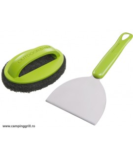 Stainless steel cleaning set