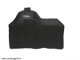Grill Cover Primo in wood table