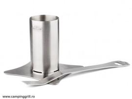 Stainless steel beer chicken holder
