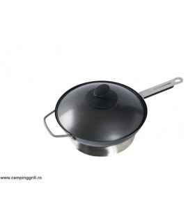 Wok pan with lid