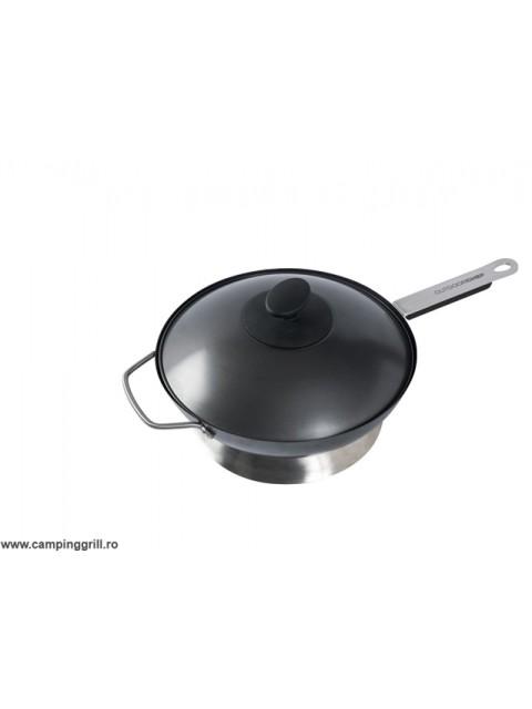 Tigaie wok cu capac