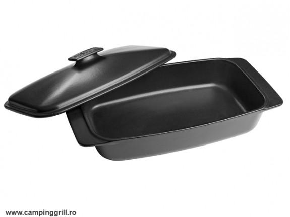 Caserola ceramica cu capac Weber