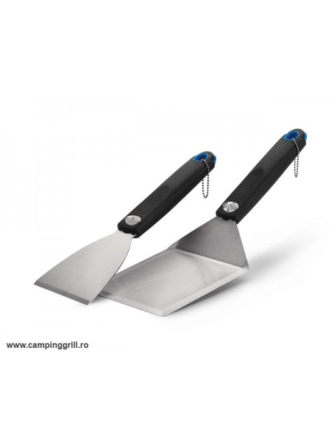 Stainless steel spatula set