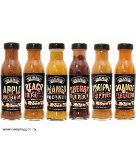 Package of grill sauces