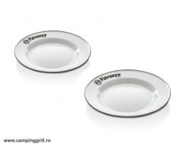 Petromax enamel plates set white