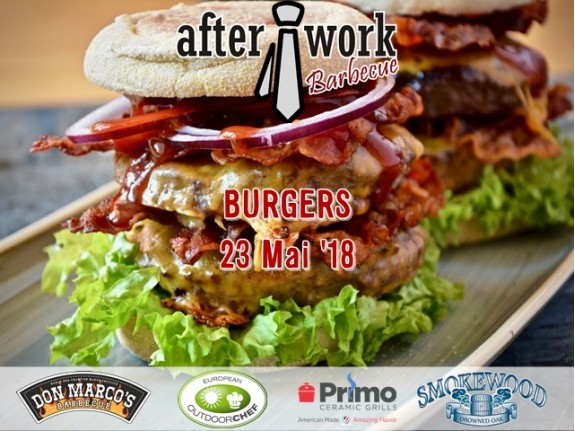 After Work Barbecue BURGERS: Miercuri, 23 Mai