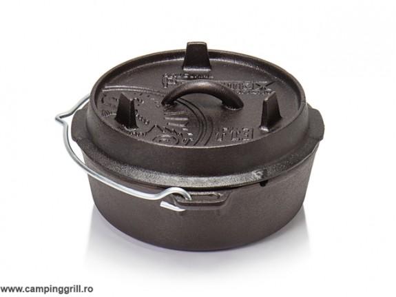 Ceaun fonta plat Petromax 2 litri