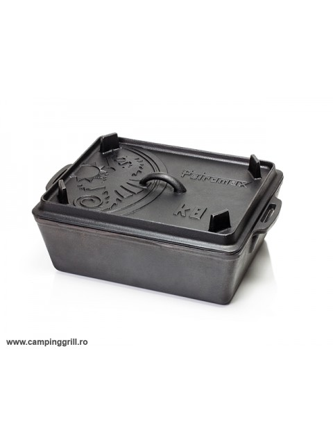 Castiron loaf pan with lid 5.5 l