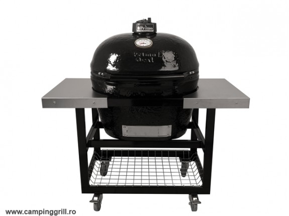 Ceramic smoker Primo XL with stainless steel table