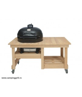 Ceramic grill Primo Oval XL in wood table