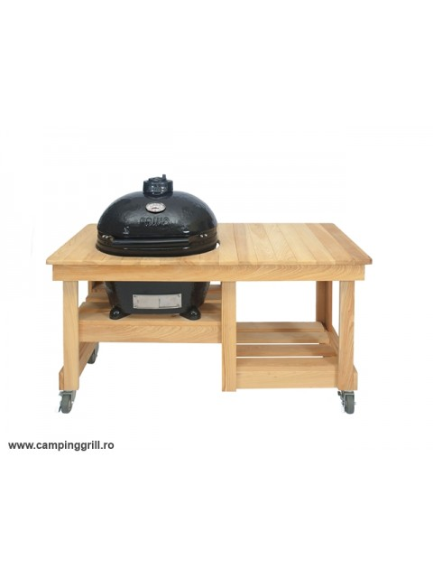 Ceramic Grill Primo Large in wood table
