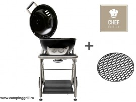 Gasgrill ASCONA CHEF EDITION Black with cast iron grate