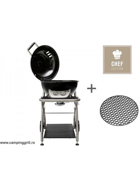 Grill gaz cu gratar fonta ASCONA CHEF EDITION Black