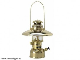 Petromax lamp HK 500 brass with reflector