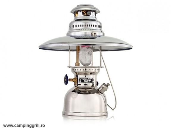 Lampa Petromax cromata cu reflector